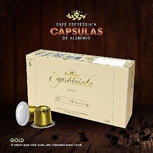 CAFÉ TORRADO E MOÍDO ESPRESSIATA GOLD EM CAPSULA CX C/ 10 CAPSULAS