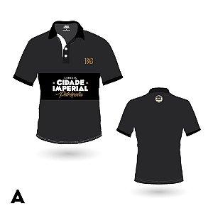 Camiseta FEMININA Polo Cerveja Cidade Imperial Preta ou Branca Bordado - 2 Modelos
