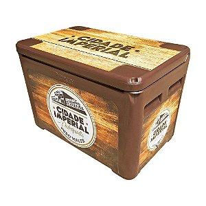 Caixa Térmica em Polietileno 190L Marrom da Cerveja Cidade Imperial