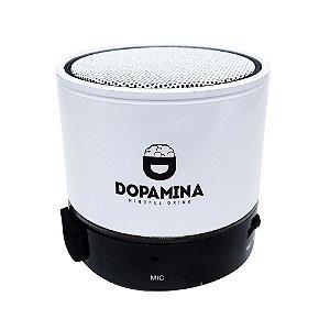 Caixa de Som Branca Bluetooth 3W Dopamina