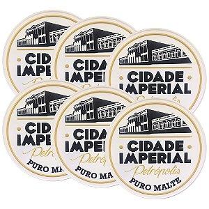 6 Porta Copos de Borracha Cerveja Cidade Imperial