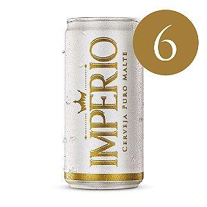 6 Cervejas Império Puro Malte Tipo Pilsen Lata 269ml