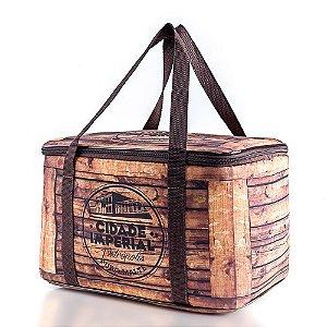 Bolsa Térmica 15 litros Madeira - Cerveja Cidade Imperial