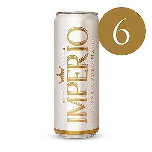 6 Cervejas Império Puro Malte Tipo Pilsen Lata 350ml