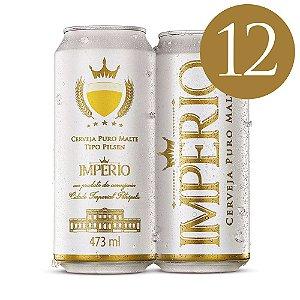 Pack com 12 Cervejas Império Puro Malte Tipo Pilsen Lata 473ml