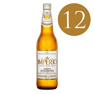 Caixa com 12 Cervejas Império Puro Malte Garrafa 600ml