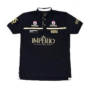 Camiseta MASCULINA Preta Polo Império RACING 105