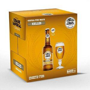 Cerveja Cidade Imperial Helles Long Neck 500ml com tampa abre fácil caixa com 6