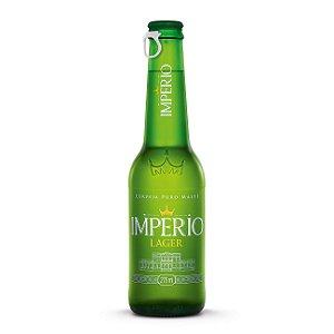 Cerveja Império Lager Puro Malte Long Neck 275ml com tampa abre fácil caixa com 12
