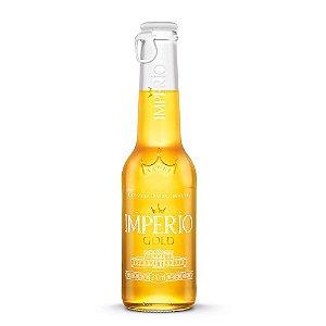 Cerveja Império Gold Puro Malte Long Neck 210ml com tampa abre fácil