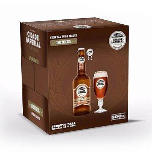 Cerveja Cidade Imperial Dunkel Long Neck 500ml com tampa abre fácil caixa com 6