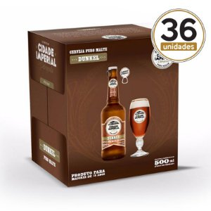 Kit Mini Festa Cidade Imperial com 36 Long Necks Dunkel com 500ml com tampa abre fácil
