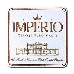 12 Porta Copos de Papelão Cerveja Império Impresso Frente e Verso