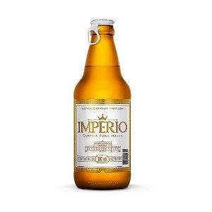 Caixa com 12 Cervejas Império Puro Malte Pilsen Garrafa 300ml