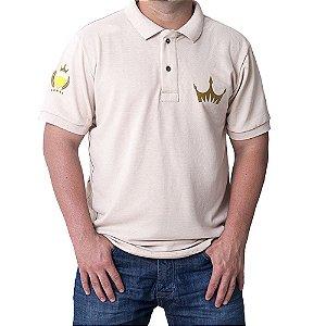 Camiseta MASCULINA Polo Império Gold com Detalhes - MARROM CLARO
