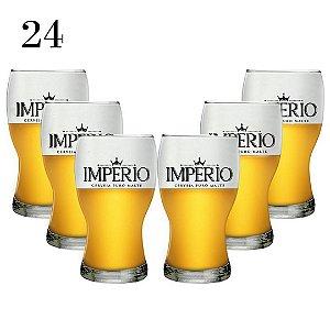 Conjunto com 24 Copos Amsterdam 215ml Cerveja Império