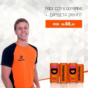 Kit Dopamina - Pack com 6 Dopaminas + Camiseta Dry-fit