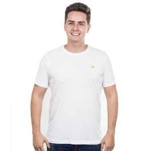 Camiseta Império com Coroa Estampada - Branca