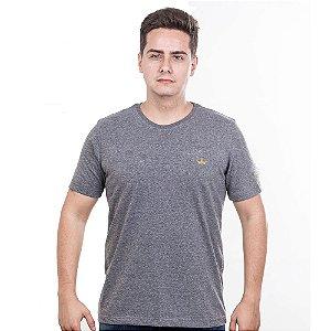 Camiseta Império com Coroa Estampada - Mescla Escura