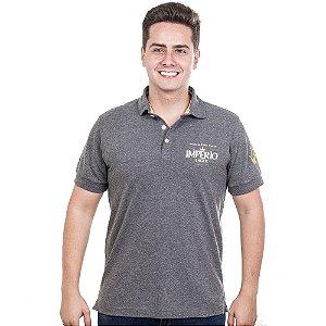 Camiseta Polo Império Lager em Alto Relevo - Cinza