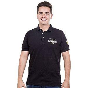 Camiseta Polo Império Lager em Alto Relevo - Preta