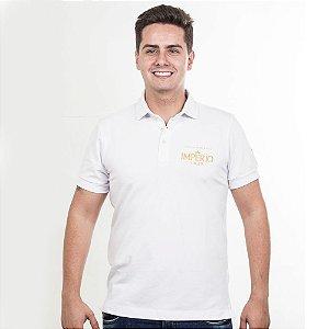 Camiseta Polo Império Lager em Alto Relevo - Branca