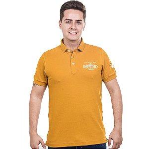 Camiseta Polo Império Gold em Alto Relevo
