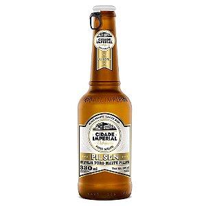 Cerveja Cidade Imperial Pilsen Long Neck 330ml com tampa abre fácil