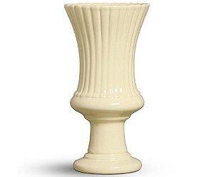 Vaso cerâmica amarelo