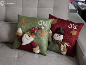 Almofada Papai Noel - verde