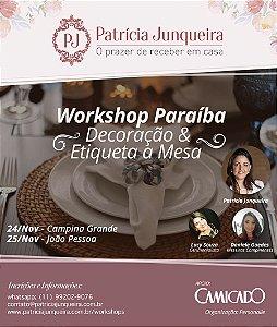 Workshop Decoração & Etiqueta a Mesa - JOÃO PESSOA/PB
