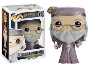 Bonecos Funko Pop Brasil - Harry Potter - Dumbledore With Wand
