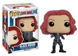 Bonecos Funko Pop Brasil - Marvel - Civil War - Black Widow