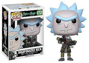 Bonecos Funko Pop Brasil - Rick and Morty - Weaponized Rick