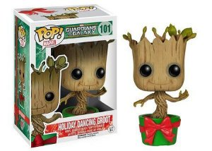 Bonecos Funko Pop Brasil - Marvel - Guardians of the Galaxy - Holiday Groot
