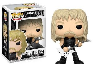 Bonecos Funko Pop Brasil - Metallica - James Hetfield