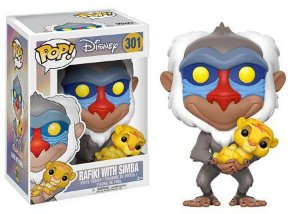 Bonecos Funko Pop Brasil - Lion King - Rafiki with Simba