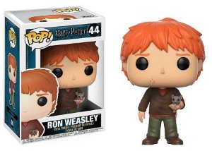 Bonecos Funko Pop Brasil - Harry Potter - Ron Weasley with Scabbers