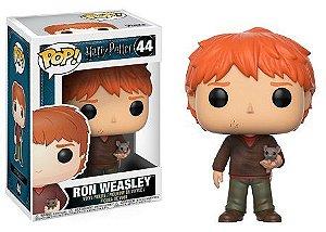 Bonecos Funko Pop Brasil - Harry Potter - Ron Weasley with Scabbers