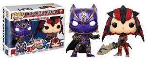 Bonecos Funko Pop Brasil - Marvel vs Capcom - Black Panther vs Monster Hunter