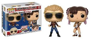 Bonecos Funko Pop Brasil - Marvel vs Capcom - Captain Marvel vs Chun-Li