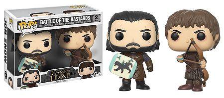 Bonecos Funko Pop Brasil - Game of Thrones - Jon Snow & Ramsay Bolton - Battle of the Bastards