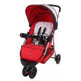 Carrinho De Bebê Triciclo Junne  3 Rodas Baby Style - VERMELHO
