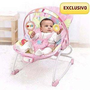 Cadeira Bebê Descanso Musical Vibratória Mastela 6903 - Rosa