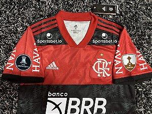 Camisa Flamengo LIBERTADORES 2021 (Uniforme 1) - Modelo Torcedor (com patrocínios)