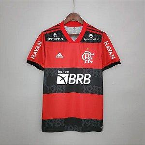 Camisa Flamengo 2021 (Uniforme 1) - Modelo Torcedor (com patrocínios)