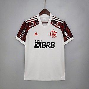 Camisa Flamengo 2021 (Uniforme 2) - Modelo Torcedor (com patrocínios)