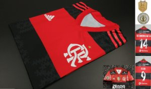 Camisa Flamengo BRASILEIRÃO 2021 (Uniforme 1) - Modelo Jogador (com patrocínios)