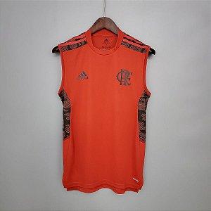 Camisa Flamengo 2021 (regata - treino) - Vermelha - (sem patrocínios)