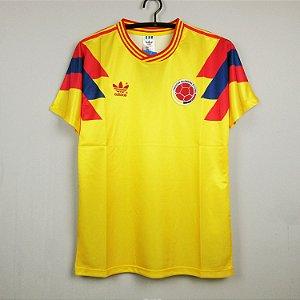 Camisa Colômbia Copa do Mundo 1990 (Home-Uniforme 1)